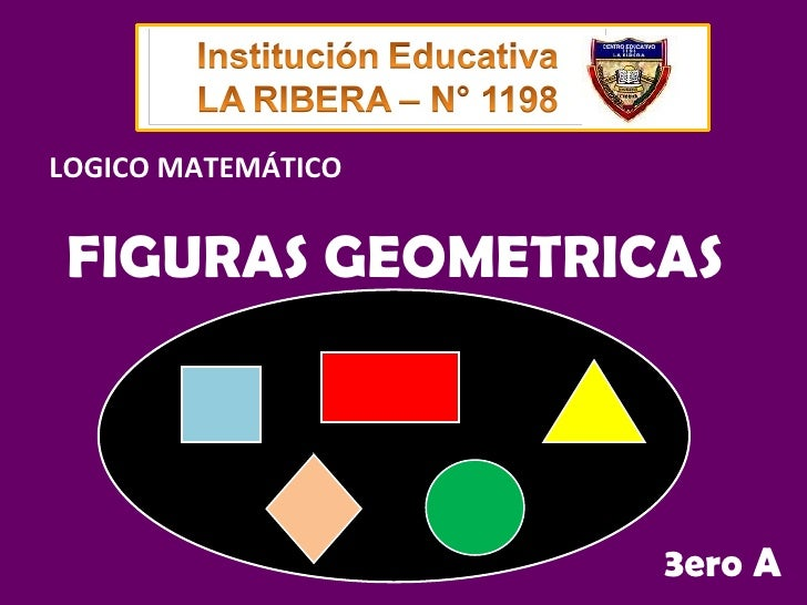 FIGURAS GEOMETRICAS 3ero A LOGICO MATEMÁTICO