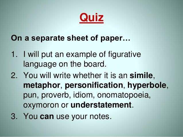 Long dress quiz on figurative language