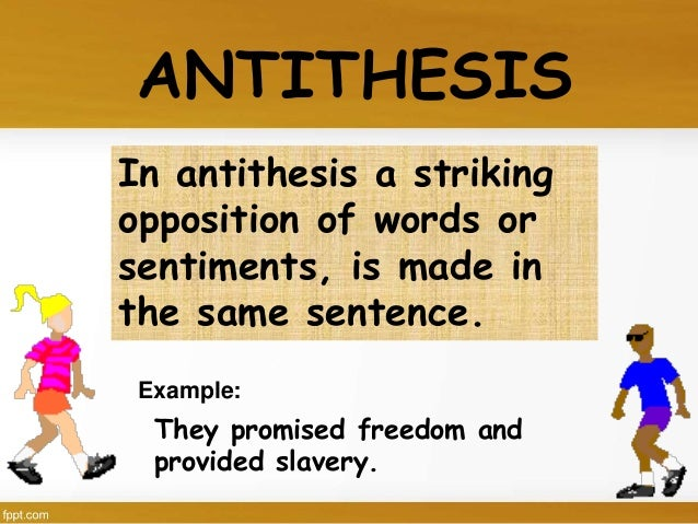 Another word for antithesis