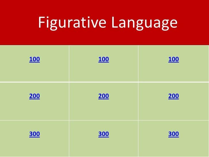 Figurative Language 100       100      100     200       200      200     300       300      300