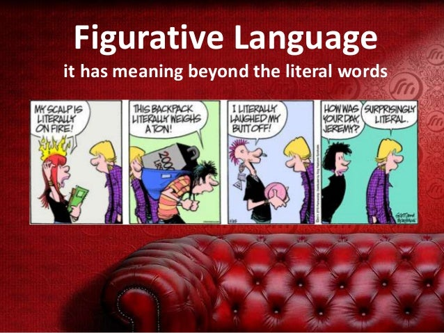 Figurative Language it has meaning beyond the literal words
