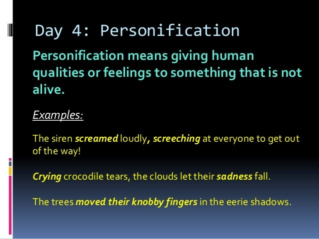 Personification for tears