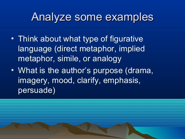why authors use figurative language in non