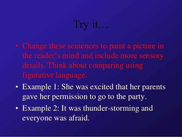 sensory details examples