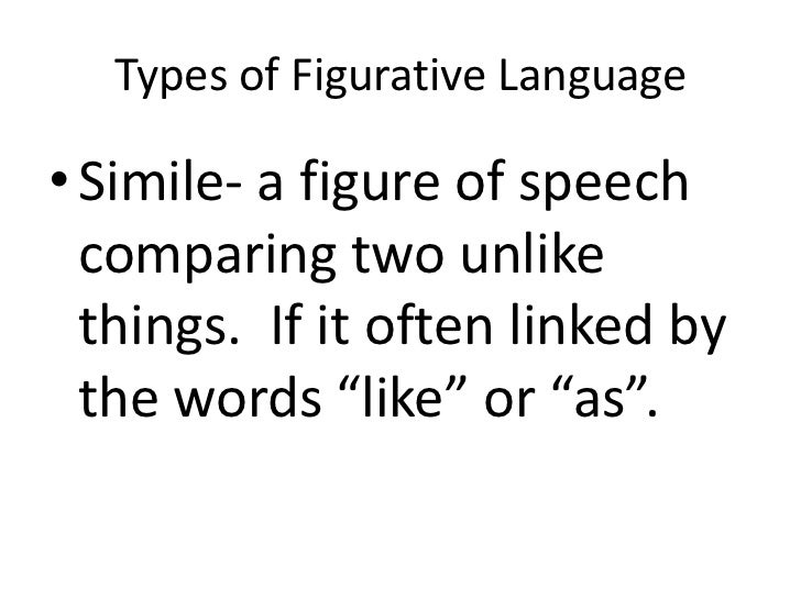 Figurative Language Simile Metaphor Personification Hyperbole