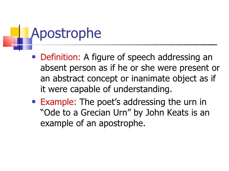 Definition of Apostrophe