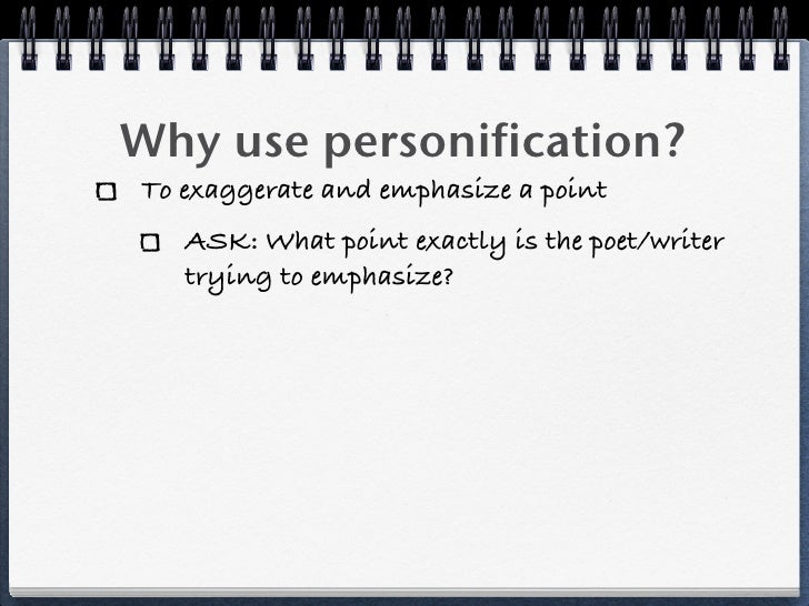 the use of personification