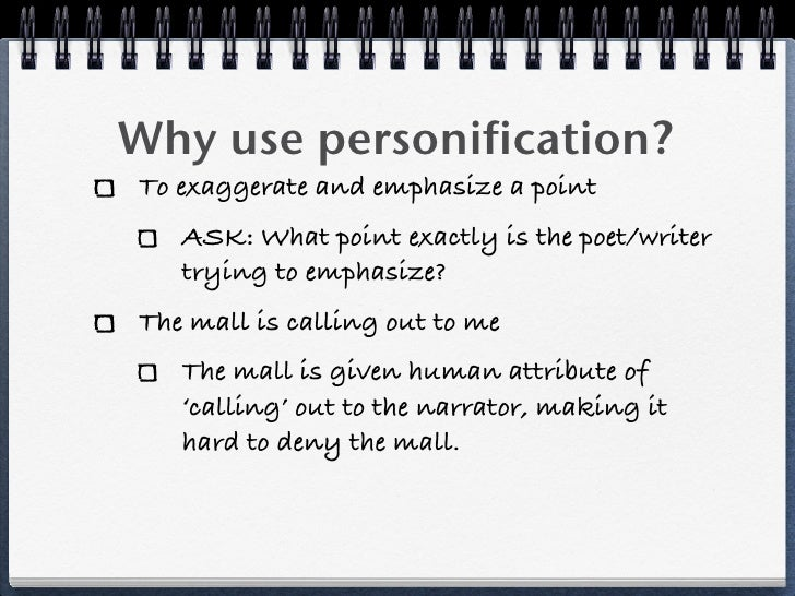 why the use of personification