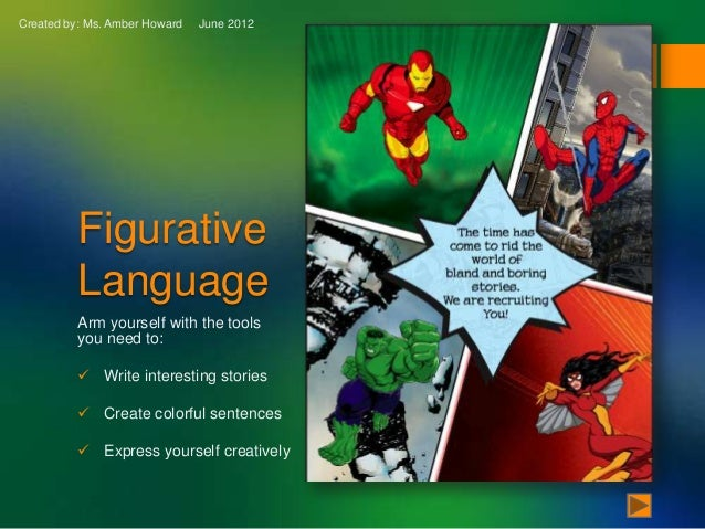 Created by: Ms. Amber Howard   June 2012          Figurative          Language          Arm yourself with the tools       ...