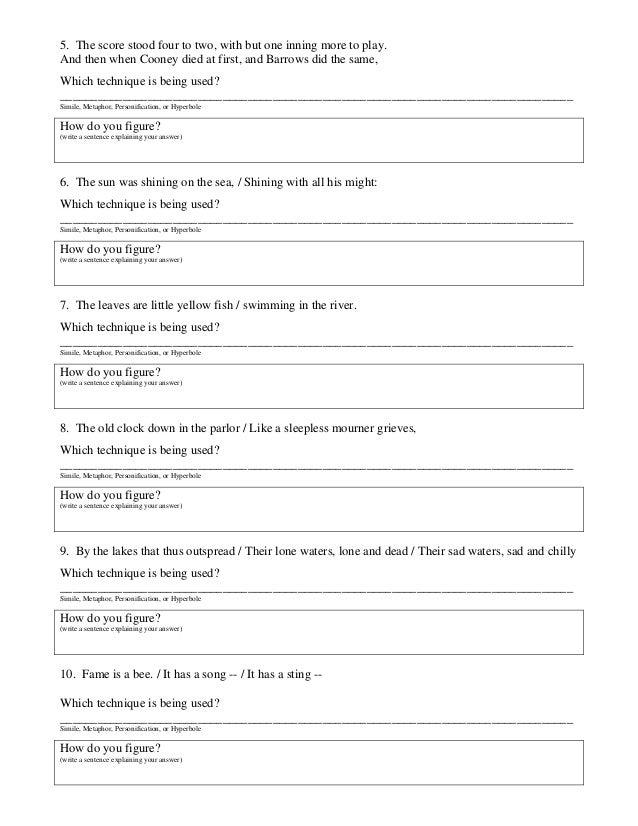 Language Worksheets {Name, Identify and Explain Method}