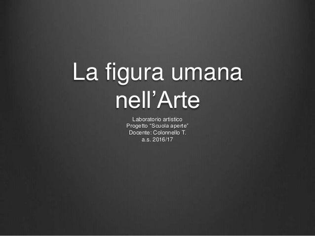 """La figura umana nell'Arte Laboratorio artistico Progetto """"Scuola aperte"""" Docente: Colonnello T. a.s. 2016/17"""