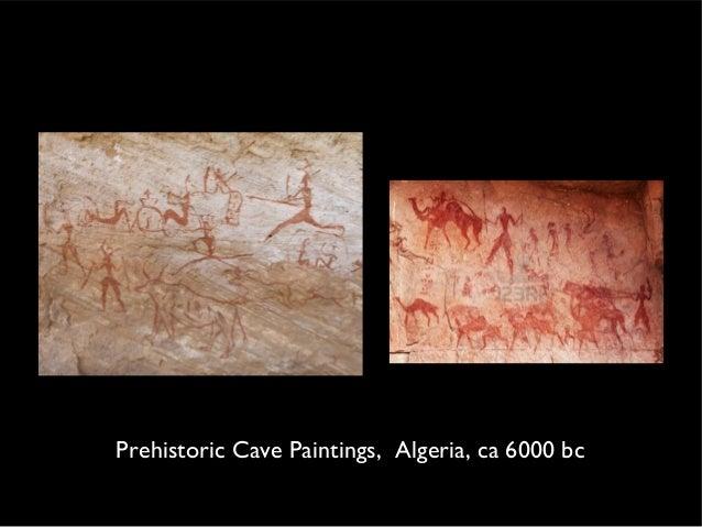 Prehistoric Cave Paintings, Algeria, ca 6000 bc