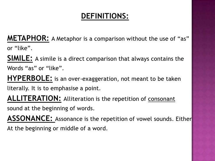 DEFINITIONS:METAPHOR: ...