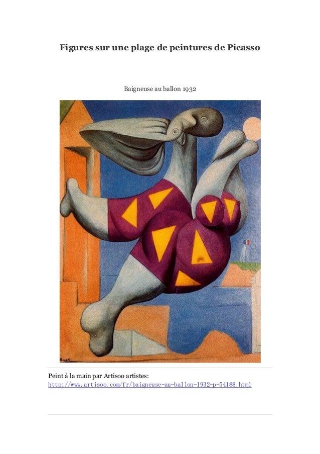 Figures sur une plage de peintures de Picasso  Baigneuse au ballon 1932  Peint à main par Artisoo artistes: la http://www....