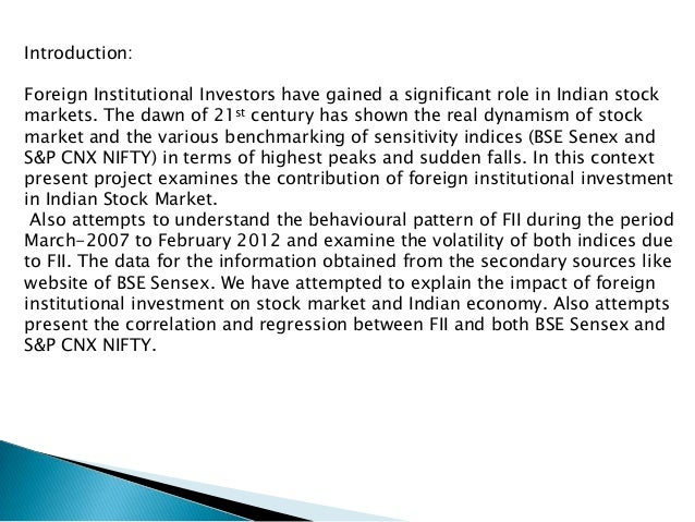 role of fiis in indian stock markets
