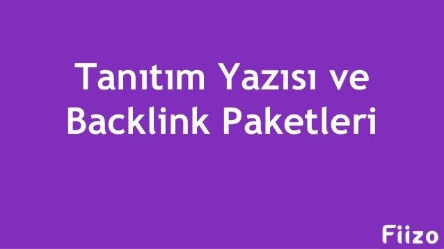 Tanıtım Yazısı ve Backlink Paketleri
