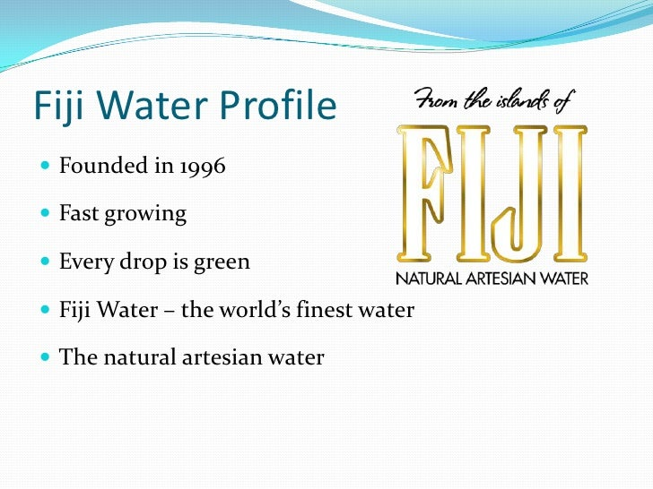 fiji water essay Pure competition - fiji free essay, term paper and book report pure competition: fiji water pure competition is described as involving a very large number of firms producing a standardized product.