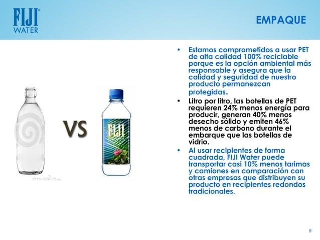EMPAQUE•   Estamos comprometidos a usar PET    de alta calidad 100% reciclable    porque es la opción ambiental más    res...