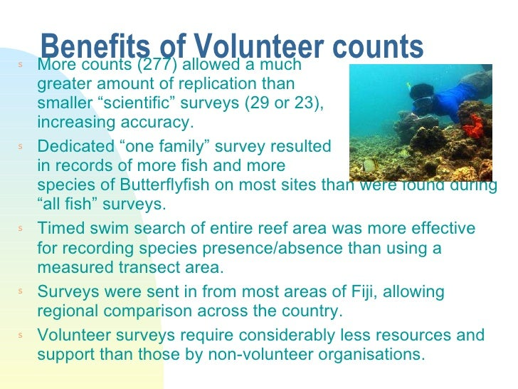 """Benefits of Volunteer counts  <ul><li>More counts (277) allowed a much greater amount of replication than smaller """"scienti..."""
