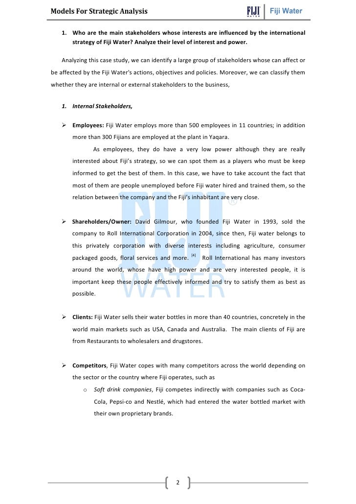 fiji water and corporate social responsibility essay Introduction to the case theory ofcsr/greenwas hing tbl trilemma fiji water  and corporate social responsibility comparison.