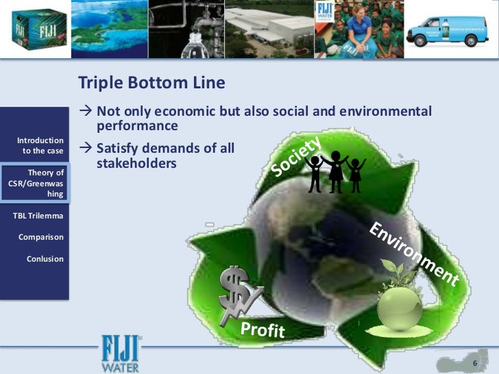 fiji water and corporate social responsibility essay