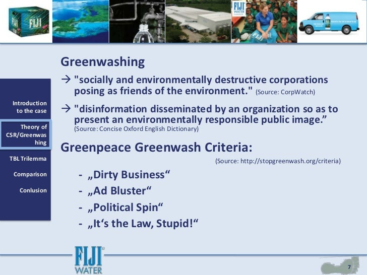 fiji water green makeover or greenwashing ivey Undergraduate course materials fiji water and corporate social responsibility - green makeover or greenwashing (ivey publishing case.