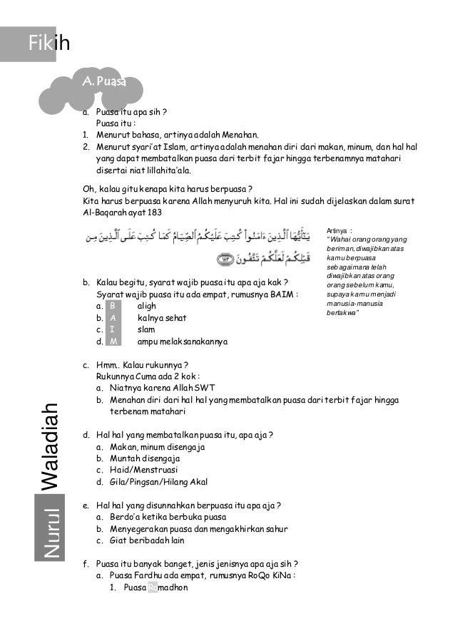 Modul Singkat Persiapan Lomba Cerdas Cermat Pendidikan Agama Islam D