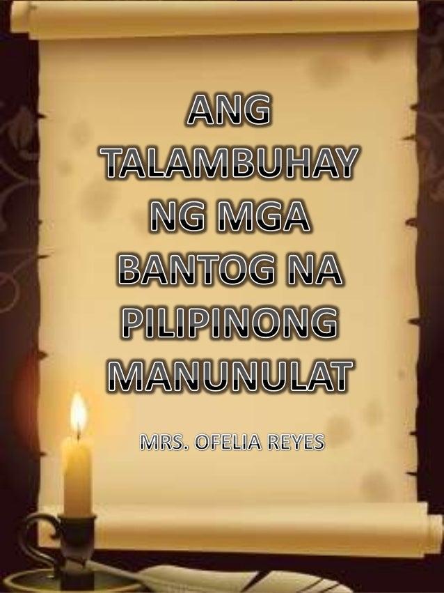 SEVERINO REYES Si Severino Reyes ay isinilang sa Santa Cruz, Maynila noong Pebrero 12, 1861. Ikalima siya sa mga anak ng m...