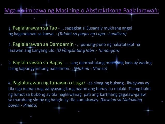 halimbawa ng masining na talambuhay Tayutay at ang mga uri at halimbawa tawag o katangian ng bagay na inihahambing halimbawa: talambuhay ng mga pangulo ng pilipinas.