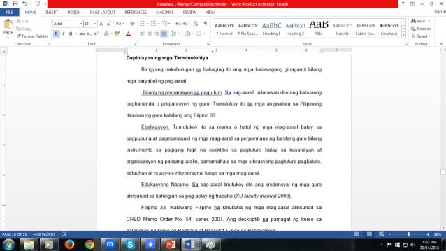 Example of term paper in tagalog