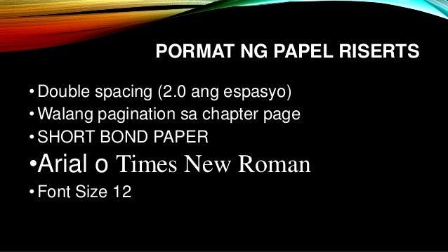 Ano ang panimula sa term paper