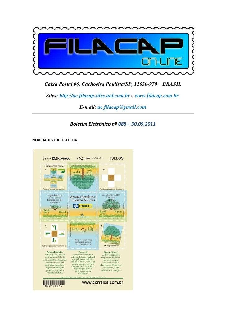Caixa Postal 06, Cachoeira Paulista/SP, 12630-970 BRASIL      Sites: http://ac.filacap.sites.uol.com.br e www.filacap.com....