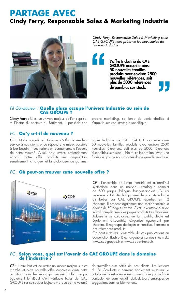 PARTAGE avec    Cindy Ferry, Responsable Sales & Marketing Industrie                                                      ...