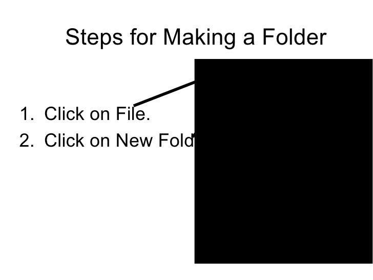 Steps for Making a Folder <ul><li>Click on File. </li></ul><ul><li>Click on New Folder </li></ul>