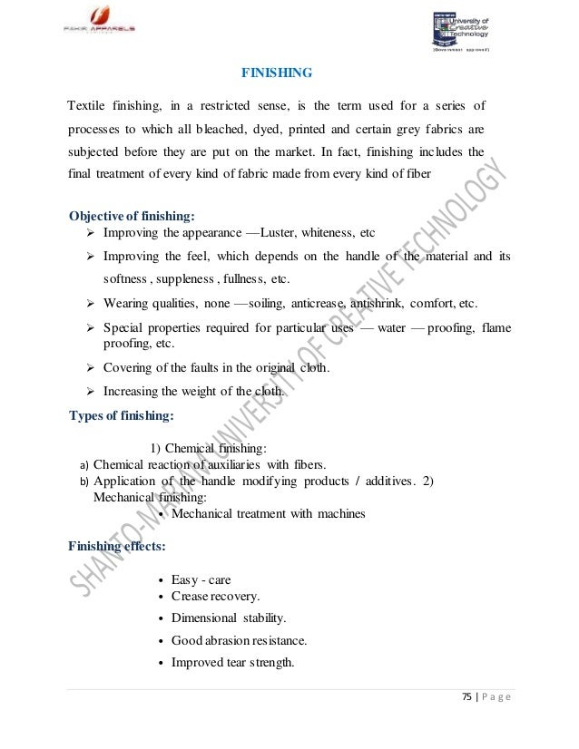 textile internship report ghcl Subject: textile topic: internship report dyeing is the process of adding color to textile products like fibers, yarns, and fabrics dyeing is normally done in a special solution containing dyes and particular chemical material.