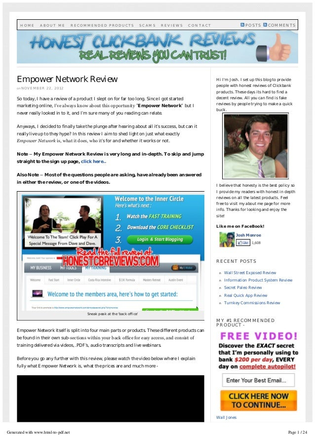 Empower Network Reviewon N O V E M B E R 2 2 , 2 0 1 2So today, I have a review of a product I slept on for far too long. ...
