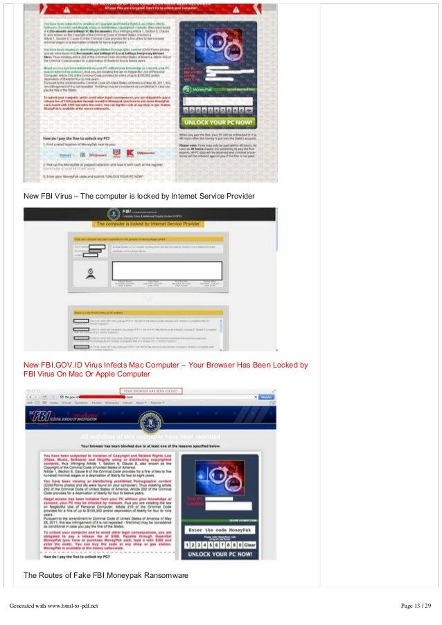 FBI Virus Scam Locked Computer Screen? Remove FBI Moneypak