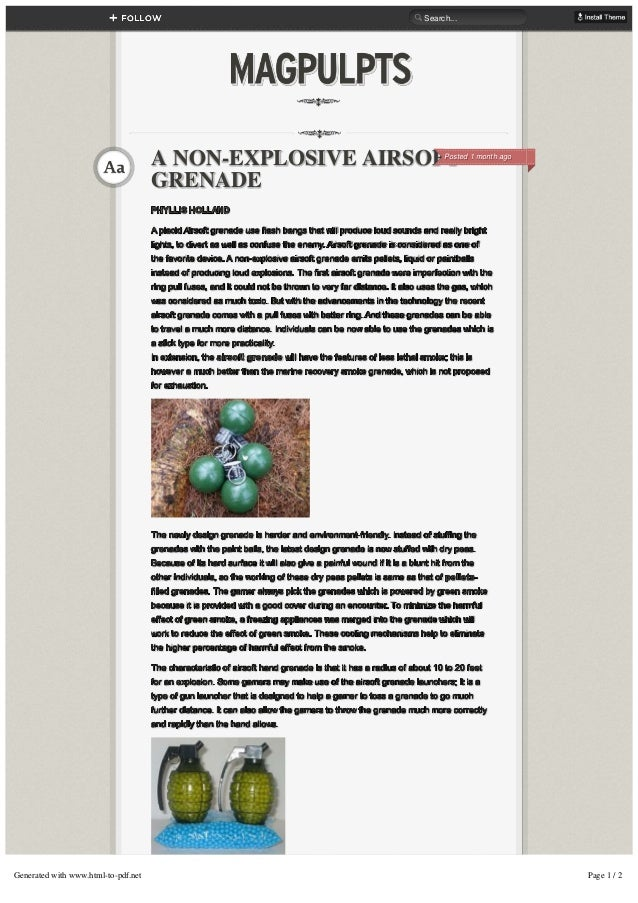 PHYLLIS HOLLAND PHYLLIS HOLLAND A placid Airsoft grenade use flash bangs that will produce loud sounds and really bright A...
