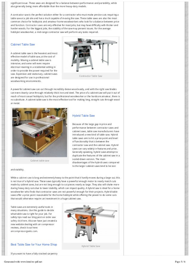 Table Saw Reviews - Compare The Best Table Saws 2015! Portable & …