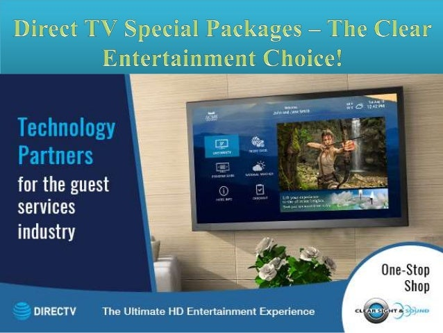Direct TV Special Packages – The clear entertainment choice!