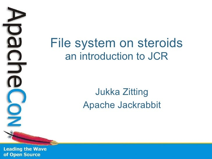 File system on steroids an introduction to JCR <ul><ul><li>Jukka Zitting </li></ul></ul><ul><ul><li>Apache Jackrabbit </li...