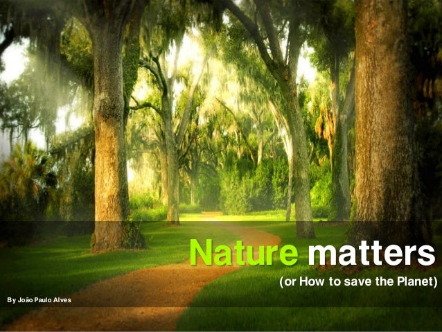 Nature matters                           (or How to save the Planet)By João Paulo Alves