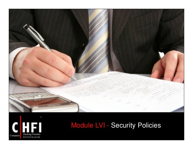 Module LVI - Security Policies