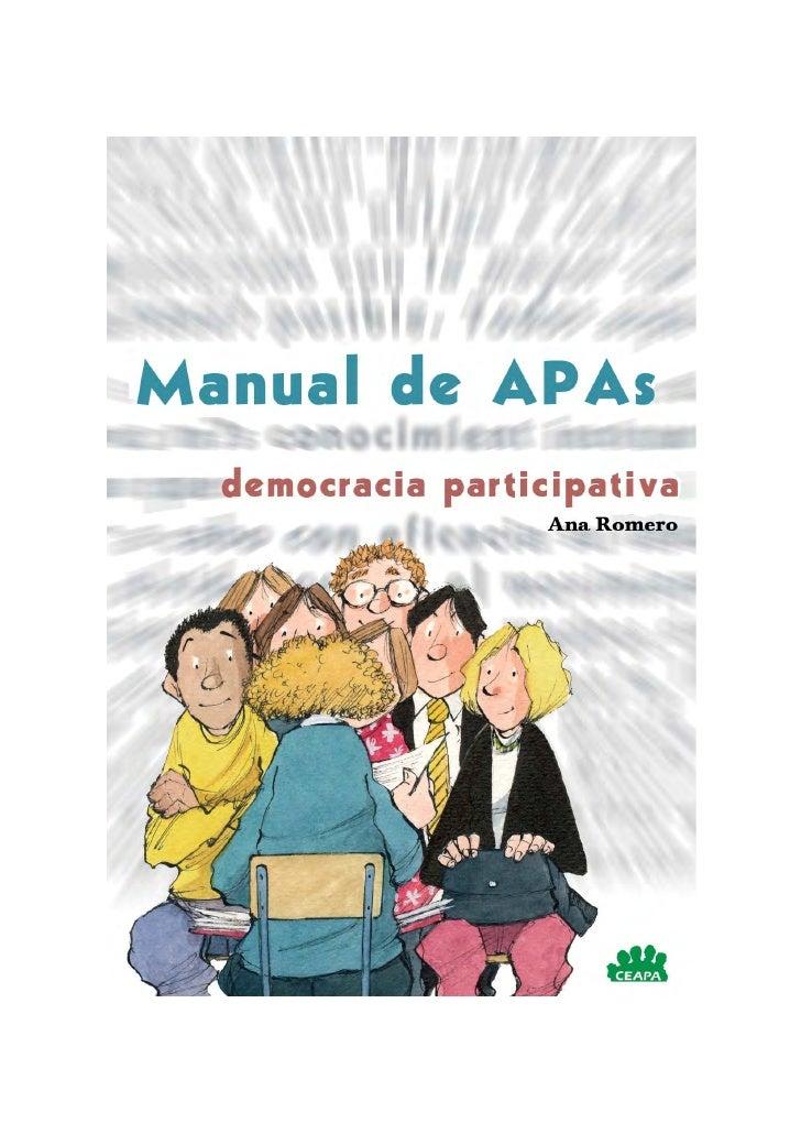 Manual de APAs  democracia participativa                   Ana Romero