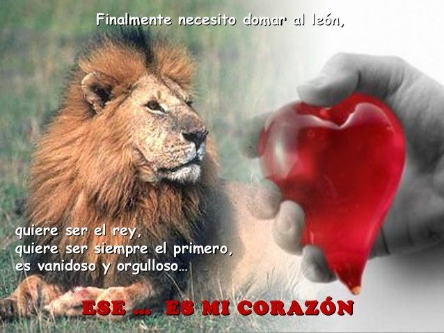 Finalmente necesito domar al león,Finalmente necesito domar al león, quiere ser el rey,quiere ser el rey, quiere ser siemp...
