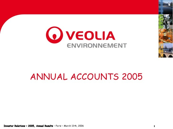 ANNUAL ACCOUNTS 2005Investor Relations – 2005, Annual Results – Paris – March 13th, 2006   1