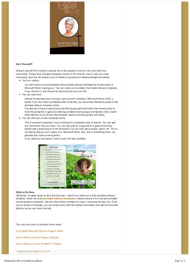 Funeral obituary templates do it yourself solutioingenieria Image collections