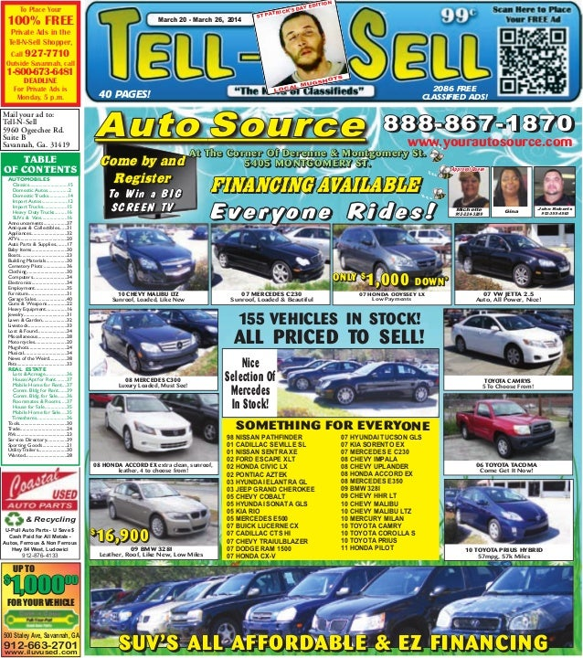 & Recycling U-Pull Auto Parts - U Save $ Cash Paid for All Metals - Autos, Ferrous & Non Ferrous Hwy 84 West, Ludowici 912...