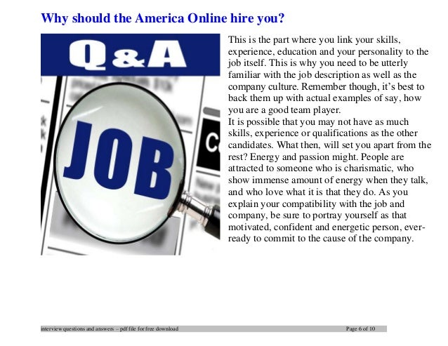 America Online interview questions and answers