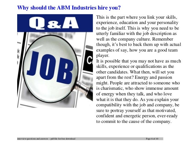 ABM Industries interview questions and answers